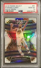 Stephen Curry 2019-20 Select White Prizm /149 PSA 10 Gem Mint Warriors MVP