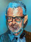 "Original Jeff Goldbulm Abstract Palette Knife Portrait Painting Wall Art 11x14"""