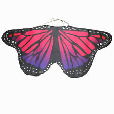 Colorful Kids Butterfly Wing Scarf Creative Cape Shawl Neckerchief Funny Dress