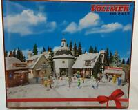VOLLMER 2413 HO GAUGE - CHRISTMAS VILLAGE, 5 SEALED KITS WITH SNOW & LIGHTING