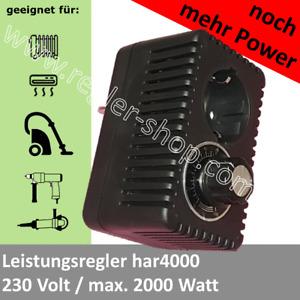 Drehzahlregler; Leistungsregler; Steckdosendimmer -  230V  max 2000W
