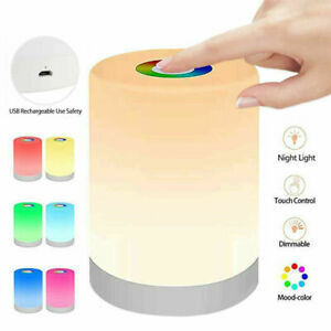 Touch Sensor Night Light Portable LED Dimmable Rechargeable Bedside Table Lamp