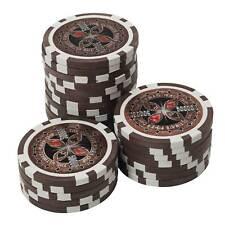 50 Pokerchips 13g Clay (Ton) Wert 50.000 braun Metallkern Ultimate Poker Laser