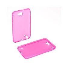 Custodia in silicone TPU trasparente per Samsung Galaxy Note N7000, Colore: Rosa