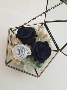 Forever Rose Flower Festive Preserved Immortal Fresh Rose Blue Angel