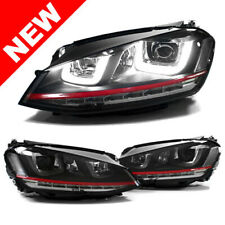 Volkswagen 15 16 17 Golf/Gti Helix Projector Headlights W/ Led Drl & Signals