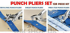 3Pcs Heavy Duty Leather Punch Revolving, Eyelet & Press Stud Punch Pliers Set