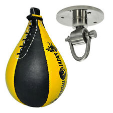 SENSHI Giappone Heavy Duty Cowhide LEATHER Speedball intervallo BOXE MMA TRAINING