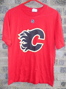 Vintage Reebok Calgary Flames NHL team t-shirt #21 Jokinen size S