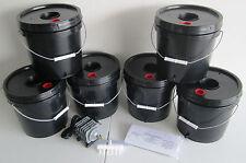 6 bucket 2 Gallon Deep Water Culture (DWC) Grow Bucket Hydroponic System Kit