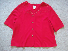 Womens Jacket Halmode Plus Studded size 24W button down front