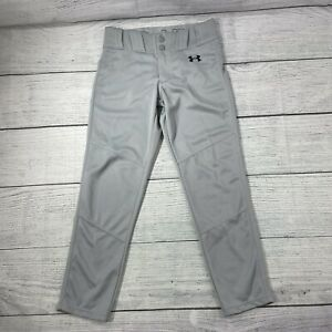 Under Armour Utility Relaxed Baseball Gray Pants HeatGear Boy's Youth S Loose
