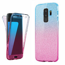 Ultra Slim Clear GEL Skin Case Cover & Tempered Glass for Samsung Galaxy Phone Galaxy S4 Pink