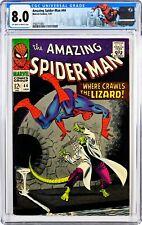 Amazing Spider-Man  #44 (1967) CGC 8.0, Mint Case! Custom Label! 2nd app LIZARD!
