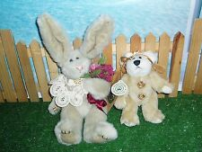 Boyd'S Bear With Tags Plus Bunny (Lot Of Two)