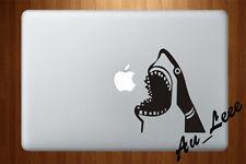 Macbook Air Pro Vinyl Skin Sticker Decal Great Shark Bite Teeth Sea Animal M724