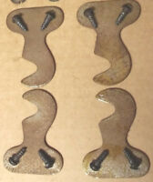 4 treadle singer sewing machine drawer mounting brackets and screws for legs