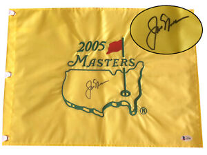 JACK NICKLAUS SIGNED AUTO OFFICIAL 2005 MASTERS FLAG BECKETT BAS COA 10