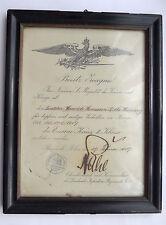 Urkunde Eisernes Kreuz 2.Klasse, Inf. Reg. 37 Russisch-Polen 1917 gerahmt