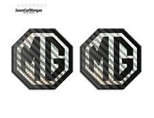 Mg TF LE500 70 mm Set delantero trasero con el logotipo distintivo insertar Carbono Negro Emblema insignias