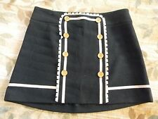 NWT Juicy Couture Flyer Hard Woven Black Dress Mini Skirt-$198.00-Size 4