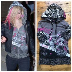 Abbey Dawn Avril Lavigne 'Rock Princess' Hoodie Size Small RARE 2008 Punk Goth