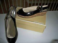 MICHAEL KORS Fulton Mid Wedge 10M New Shoe Black Patent Leather