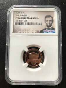 2018- S  1C FIRST RELEASES - PR-70UC RARE