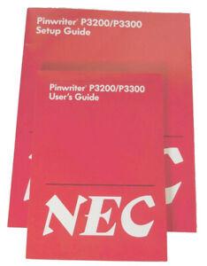 NEC Pinwriter P3200/P3300 Manuals, Setup & User's & Tractor Guides & Parts