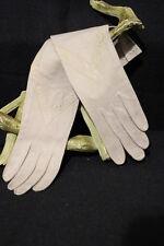 Vintage I.Magnin & Co. Nude Leather Gloves, HERMES Paris, Womens Size 6-B19