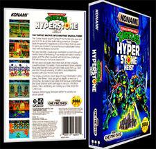 TMNT Turtles Hyperstone Heist - Sega Genesis Reproduction Art Case/Box No Game.
