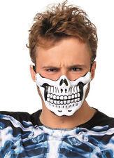 Halloween Scheletro Mezza maschera Bianco NUOVO - CARNEVALE MASCHERA VOLTI