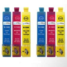 6 C/M/Y Ink Cartridges XL for Epson WorkForce WF-3540DTWF & WF-3530DTWF