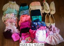 Girls Clothing & Shoe Lot, Size 6/7