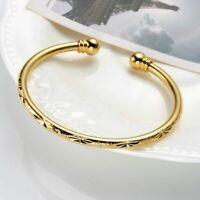 Bracelet Women's 18k Yellow Gold plated Open Bangle Charms Fashion Jewelry
