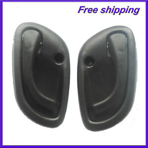 Inside Interior Left Right Side Door Handle Black For 99-04 GMC Chevy Tracker