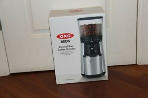 OXO BREW One Touch Stainless Steel Conical Burr Coffee Grinder Machine (8717000)