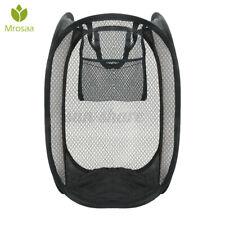 Mesh Laundry Foldable Hampers Large Clothing Basket Bag Storage Bi