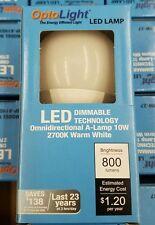 5 piecs OptoLight LED DIMMABLE Light Bulbs 10 Watt=60 Watt Equivalent 2700K