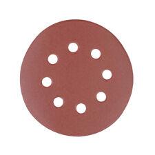 10 Pack 125mm 40 Grit Sanding Sheet Discs Hole Punch Aluminium Oxide Hook Loop