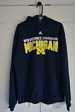 Blue Adidas Michigan Wolverines Hoodie Pullover XL