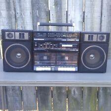 1980s Sanyo Portable Mini Component System BoomBox Model C40A Vtg Ghetto Blaster
