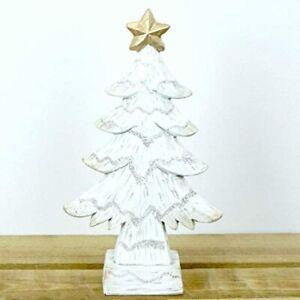 Small White Christmas Tree Shelf Sitter Decoration Ornament