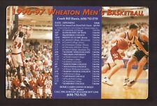 Wheaton Thunder--1996-97 Basketball Magnet Schedule