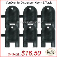 VonDrehle Dispenser Key for Paper Towel, Toilet Tissue Dispensers - (6/pk.)
