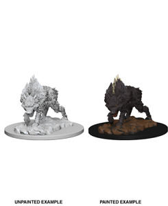 Pathfinder Deep Cuts Unpainted Miniatures: Dire Wolf