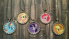 15 My little Pony inspired Bottle Cap Necklaces Party Favors Gifts