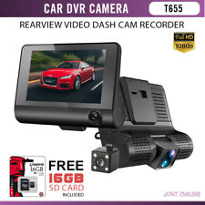 3 Lens Car DVR Camera Auto Logger Night Vision Car Dash Cam Front &  Rear View