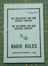 Vintage Baltimore B&O Railroad Chesapeake Ohio C&O FCC Radio Operator Rules