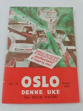 OSLO DENNE UKE GUIDE AUGUST 1949  NORWAY NR.24 TOURIST CITY MAP